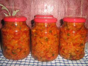 Зимний салат из помидоров  фото