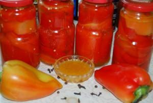Консервированный болгарский перец в масле – рецепт №3
