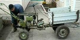 Самодельный трактор из мотоблока – создаем комфорт в работе