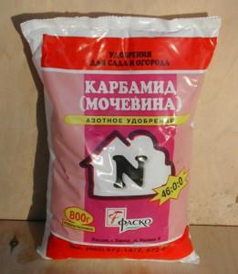 На фото - мочевина для подкормки смородины весной, happydoctor.ru