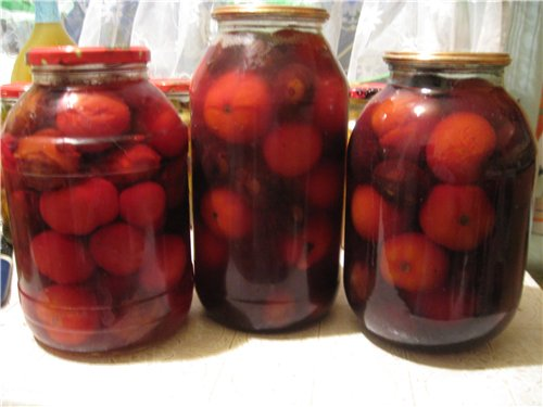 томаты со сливой консервированные