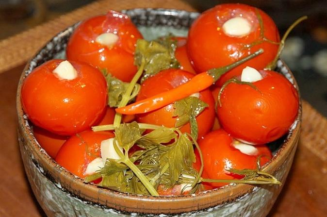 рецепт приготовления бочковых помидоров