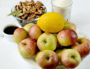 Фото ингредиентов для яблочного варенья с орехами, alimero.ru