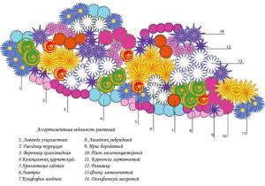 На фото - схема цветочной клумбы, 1landscapedesign.ru