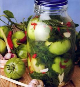 Засолка зеленых помидор – начинаем приготовления фото