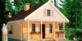 Проекты дачных домиков – от крошечных до солидных