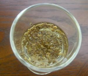 На фото - сортировка семян в растворе поваренной соли, botanichka.ru