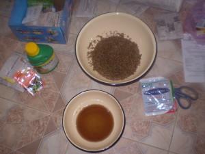 На фото - выдерживание семян в растворе микроэлементов, incomeeasily.ru