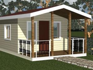 Маленький дачный домик – какой проект дешевле? фото