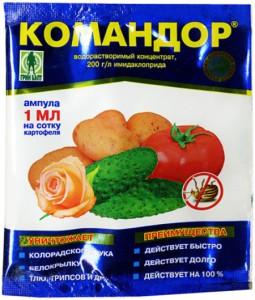 На фото - препарат Командор от бахчевой тли, fazenda-59.ru