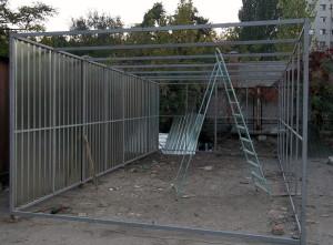 Фото строительства металлического гаража своими руками, freemarket.kiev.ua