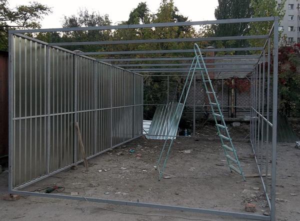 Строительство металлического гаража своими руками куплю гараж за оперным театром