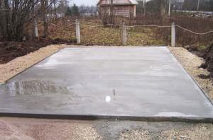 Фото плитного фундамента для металлического гаража, stroim-sami174.blogspot.com
