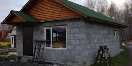 Баня из пеноблоков – строим своими руками