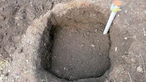 Фото подготовки посадочной ямы для саженца винограда, youtube.com