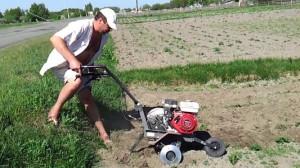 Фото рыхления почвы с подрезанием корневой системы сорных трав, youtube.com