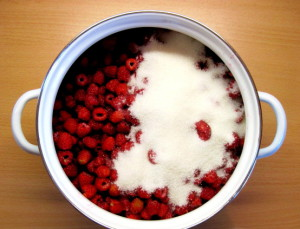 Пятиминутное варенье из малины