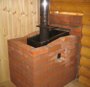На фото - печь для каркасной бани, maja-dacha.ru