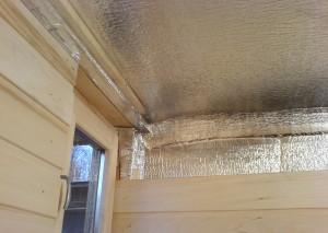 На фото - утепление и пароизоляция каркасной бани, izolyar.com