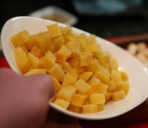 Фото отваренной репы порезанной кубиками, ykasova.com