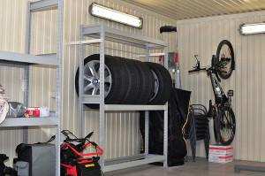 Фото стеллажей для хранения автомобильных шин, shkafmetall.by