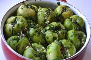 Рецепты фаршированных зеленых томатов фото