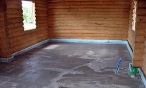 На фото - заливка бетонного пола в бане, vseopolax.ru
