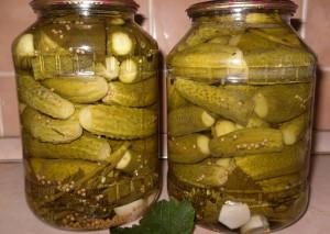 Фото консервации маринованных огурцов с зернами горчицы, gotovim-doma.ru
