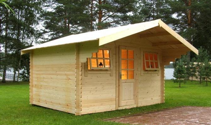 Легкий домик из шпунтованной доски