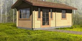 Садовые дома из бруса или шпунтованной доски – что лучше?