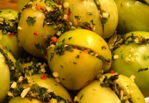 Зеленые помидоры фаршированные рецепт