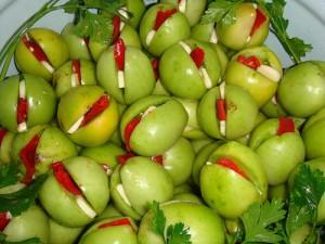 Интересные заготовки из зеленых томатов фото
