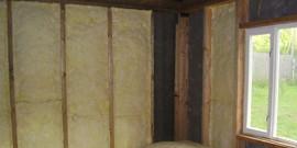 Как утеплить дверь в баню