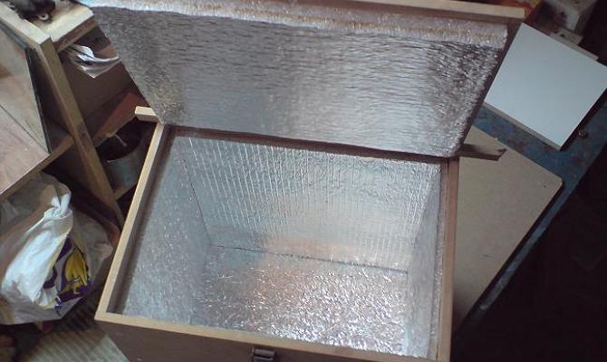 Изготовление термоконтейнера для балкона фото