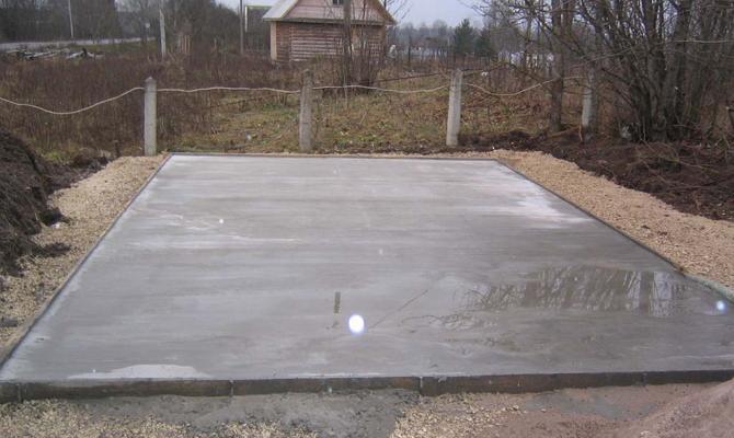 Монолитный фундамент под камин