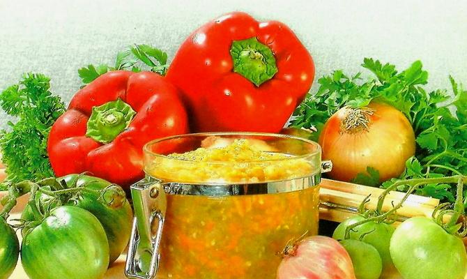 Заготовки перца с другими овощами фото