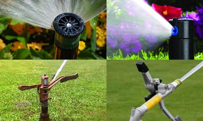 Выбор дождевателей для полива газонов