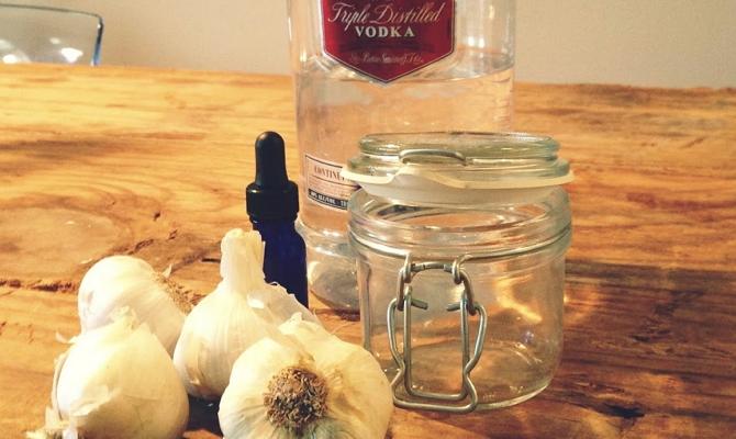 как приготовить чеснок с водкой