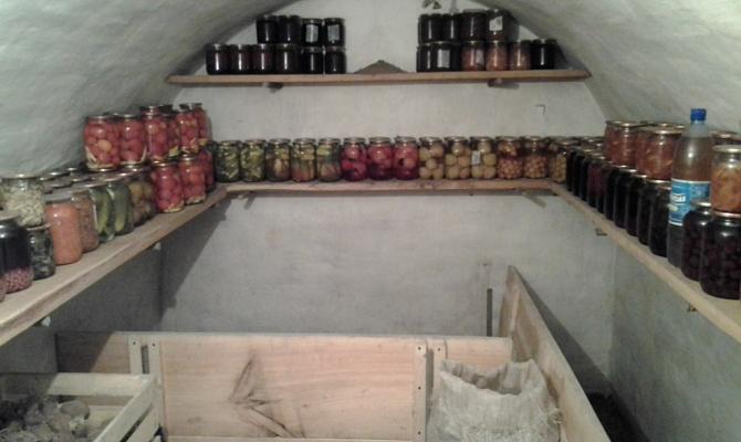 Подземное хранилище для закруток
