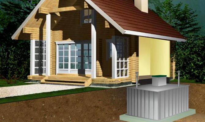 Расположение кессона под домом