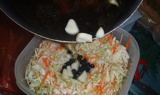Заправка овощей горячим маринадом
