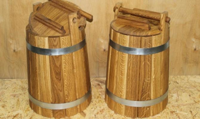 Деревянные емкости для солений