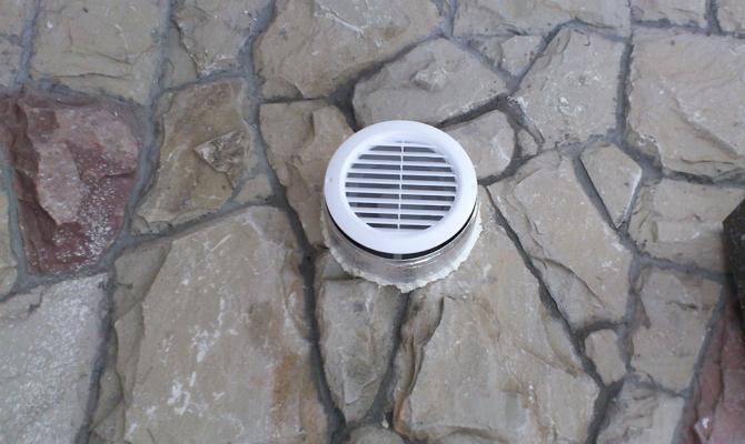 Вытяжка воздуха в подземном помещении
