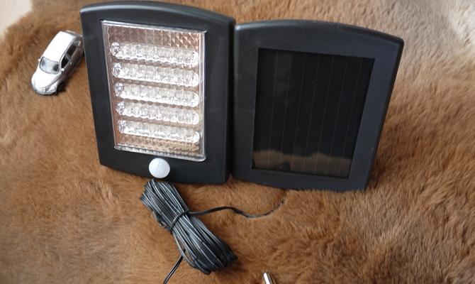 Устройство прожекторов с солнечными батареями