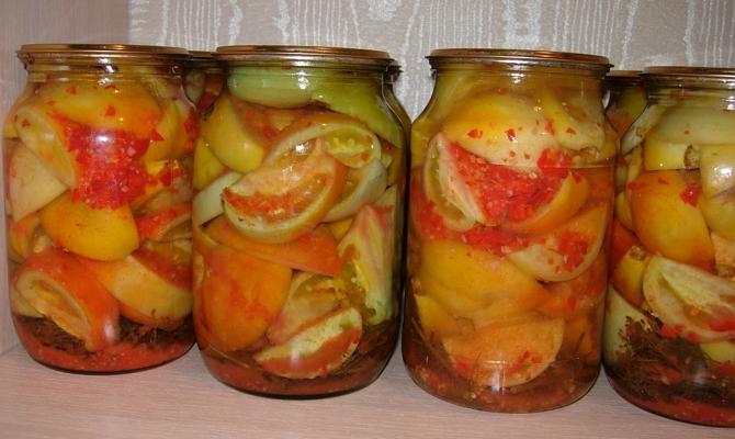 Зеленый помидоры на зиму рецепты