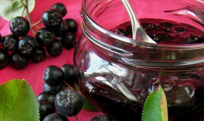 рецепты варенья из черноплодной рябины