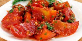 Рецепт недели: помидоры по-корейски, видеоинструкция