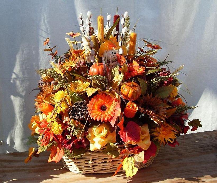 Осенние букеты и композиции из цветов своими руками, цветы казань
