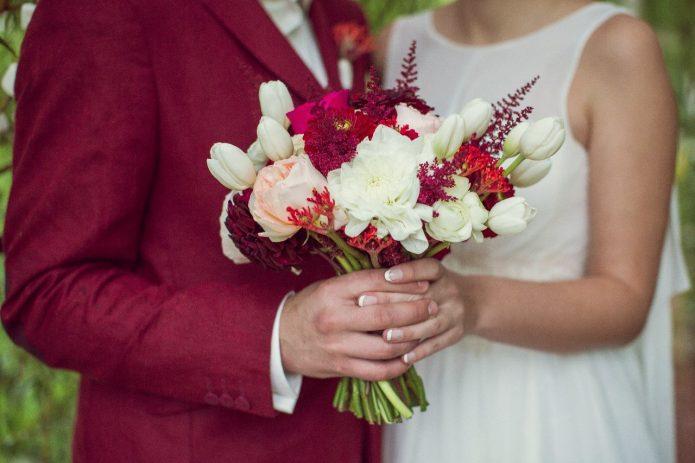 Свадьба в красно-белой гамме